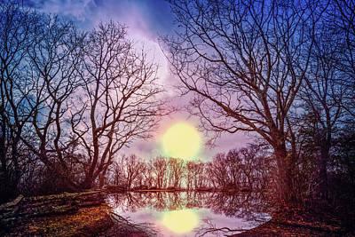 Mystery Lake Print by Debra and Dave Vanderlaan