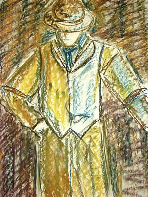 Mystery Man Print by Cathie Richardson