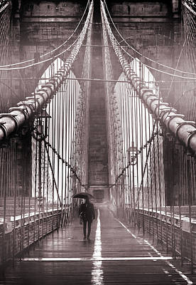 Fog Photograph - Mystery Man Of Brooklyn by Az Jackson