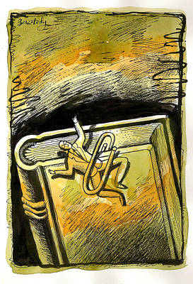 Mystery Of Man And A Book Original by Leon Zernitsky