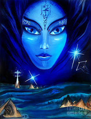 Atlantis Painting - Mystery Of Ocean. Atlantis Is Not Just A Memory by Sofia Goldberg