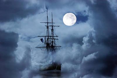 Mystery Ship Print by Stephanie Laird