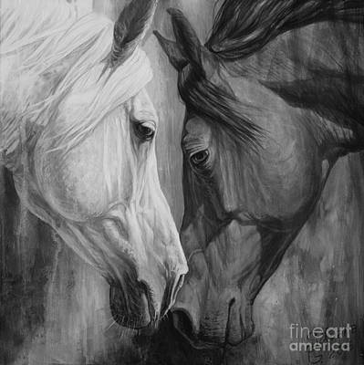 Horse Head Painting - Mystery by Silvana Gabudean