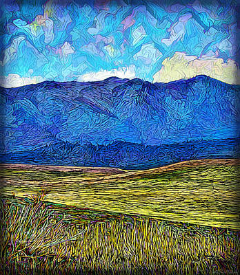 Beautiful Vistas Mixed Media - Mountains Fields Clouds - Boulder County Colorado by Joel Bruce Wallach