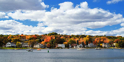 New England Fall Photograph - Mystic River In Autumn by Stephanie McDowell