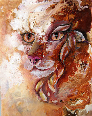 Cat Painting - Mystique by Sherry Shipley