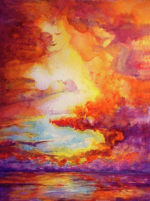 Mystical Sunset Print by Estela Robles