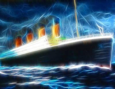 Storm Drawing - Mystical Titanic by Paul Van Scott