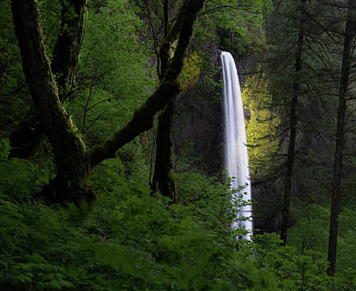 Camping Photograph - Mystical Waterfall by Larry Marshall