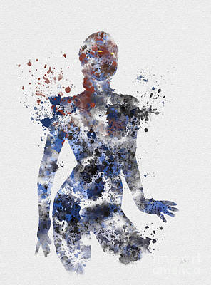 X-men Mixed Media - Mystique by Rebecca Jenkins