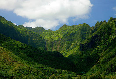 Green Forest Photograph - Na Pali Green by Mike  Dawson