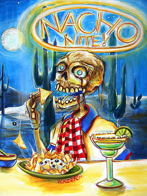 Zombies Painting - Nacho Nite by Heather Calderon