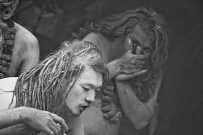 India Babas Photograph - Naga And Chillum Baba by John Battaglino