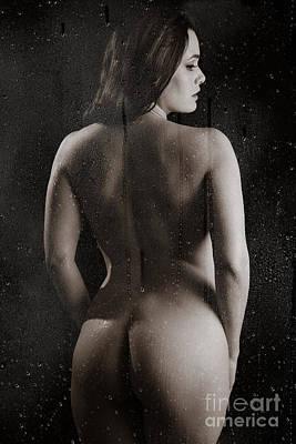 Washing Hair Photograph - Naked Backside by Jt PhotoDesign