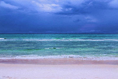 Naked Beach Print by Theresa Campbell