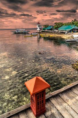 Pier Digital Art - Nalusuan Island Sunset by Adrian Evans
