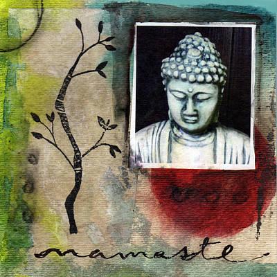 Namaste Painting - Namaste Buddha by Linda Woods