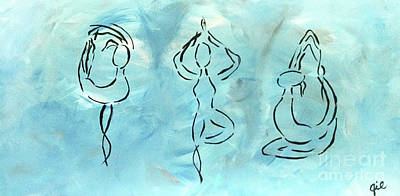 Abstract Handbag Drawing Painting - Namaste by Jilian Cramb - AMothersFineArt