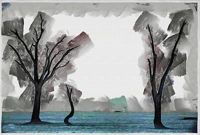 Manipulation Photograph - Namib Tree Stand by Mario Carini
