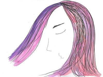 Hairdo Mixed Media - Nana by Camilla Gonzalez