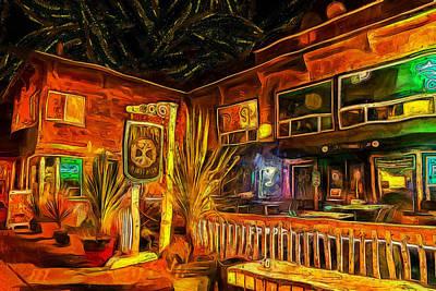 Abstract Photograph - Nana's Irish Pub by Thom Zehrfeld