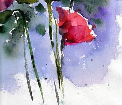 Rosebud Painting - Nancy Jane's Rose by Anne Duke