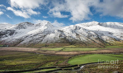 Wales Digital Art - Nant Ffrancon Winter by Adrian Evans