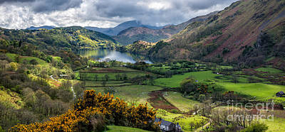 Spring Landscape Digital Art - Nant Gwynant Valley by Adrian Evans