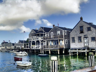 Clouds Photograph - Nantucket Harbor In Summer by Tammy Wetzel