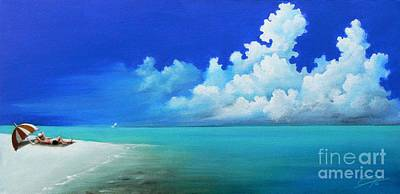 Sky Painting - Nap On The Beach by Susi Galloway