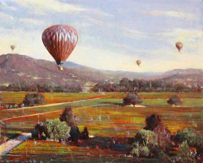 Napa Balloon Autumn Ride Print by Takayuki Harada