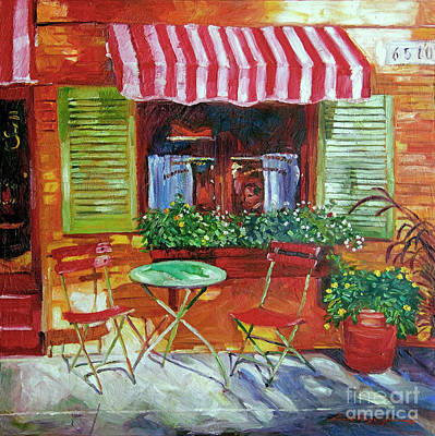 Chairs Painting - Napa Bistro by David Lloyd Glover