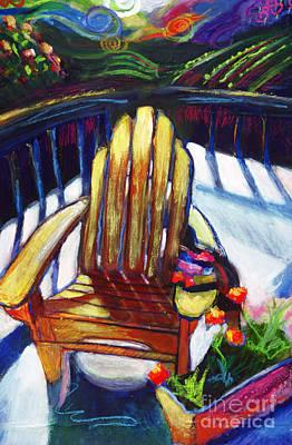 Napa California Deck Chair Print by Marcy  Orendorff