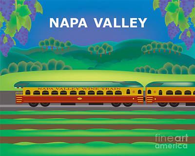 Napa Valley Digital Art - Napa Valley Horizontal Wall Art By Loose Petals by Karen Young