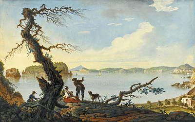 Painting - Naples A View Of The Gulf Of Pozzuoli And The Islands Of Nisida Procida Ischia And Capri by Pietro Fabris