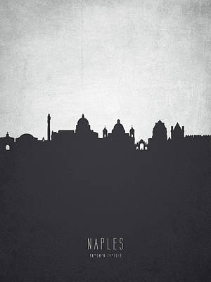 Naples Italy Cityscape 19 Print by Aged Pixel