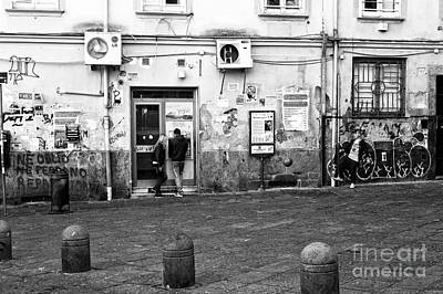 Black Kid Playing Photograph - Naples Street Scene by John Rizzuto