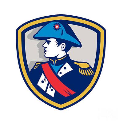 Napoleon Bonaparte Digital Art - Napoleon Bonaparte Bicorn Hat Crest Retro by Aloysius Patrimonio