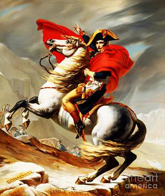 Napoleon Bonaparte On Horse Print by Gull G