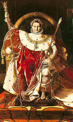 Napoleon I On The Imperial Throne Print by Ingres