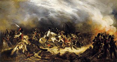 Denis Auguste Marie Raffet Painting - Napoleon In Waterloo by Attributed to Denis-Auguste-Marie Raffet