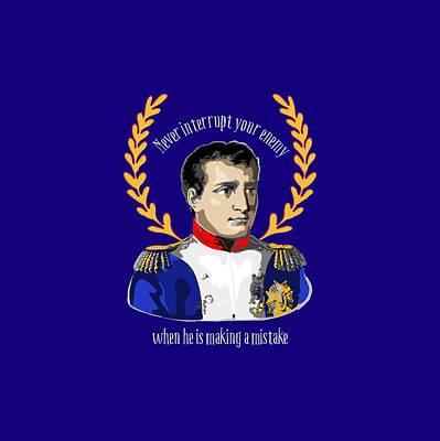 Napoleon Bonaparte Digital Art - Napoleon Quote For Battlefield Or Boardroom by Antique Images