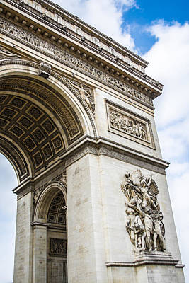 Arches Memorial Photograph - Napoleon's Arch Of Triumph by Nila Newsom