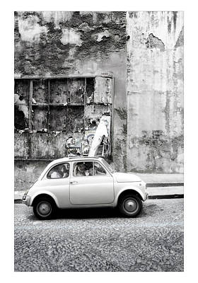 Fiat 500 Digital Art - Napoli by Marco Hietberg