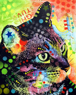 Abstract Art Painting - Nappy Cat by Dean Russo