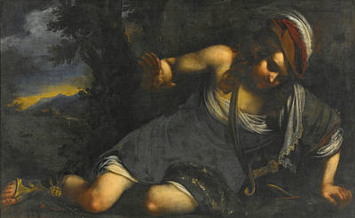 Painting - Narcissus by Attributed to Francesco Furini