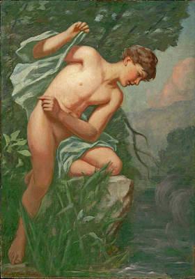 Henry Oliver Walker Painting - Narcissus by Henry Oliver Walker