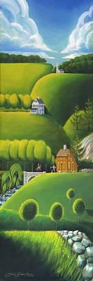 Narrow Foothills Print by John Deecken