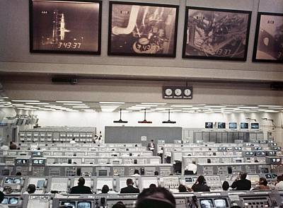 Nasa Launch Control During Apollo 8 Print by Everett