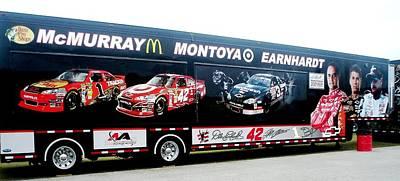 Daytona 500 Photograph - Nascar Merchandise Van by Jamie Baldwin